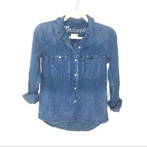 Madewell Denim Button Town Top Size Xsmall